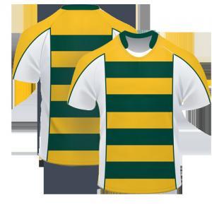 Wholesale custom design rugby short sleeves jersey / germany rugby jersey / rugby practice jersey