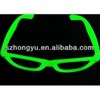 Buy cheap Fluorescence Glasses Glow In The Dark Noctilucence Glasses With PC Clear Diffraction Lens from wholesalers