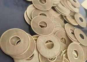 China SWG 46mm 160mesh Copper Woven Wire Mesh , Sintered Filter Disc Low Ductility wholesale