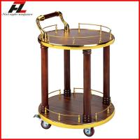 China Rolling Wine Service Cart with 4 Wheels on sale