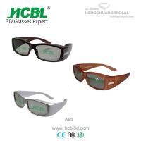 China Digital White / Brown / Yellow Real D 3D Glasses Big Frame Cinema Using wholesale