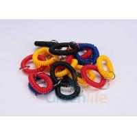 China Split Ring Flat Weld Plastic Wrist Coil Badge Accessories Various Colours wholesale
