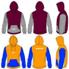 China Men's Maroon Gold 300gsm Cotton Custom Hooded Sweatshirts Heat Transfer Printing on sale