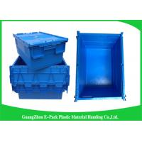China Industrial 50kgs Security Plastic Attach Lid Containers / plastic storage bins with lids wholesale