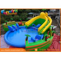 Buy cheap 0.9mm PVC Tarpaulin Inflatable Water Parks , Large Dinosaur Swimming Pool And from wholesalers