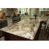 China Yellow River / Golden River Granite Vanity Countertops For Traditional Bathroom wholesale