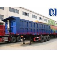 China 3 Axle 40T Container Flat Side Rollover Semi Dump Trailers / Side Dump Trailer wholesale