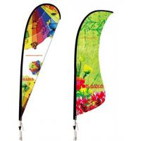 Custom Concave Angled Advertising Flying Banner Display , Outdoor Banner Stands