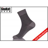 China Dark Grey Stripe Men Dress Socks Quarter Mercerized Cotton Breathable Male Socks wholesale