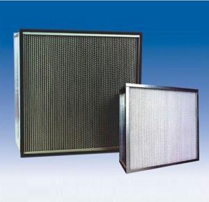 China Portable HEPA Air Filter Metal Frame Fiberglass Paper Aluminum Separator on sale