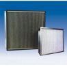 China Portable HEPA Air Filter Metal Frame Fiberglass Paper Aluminum Separator wholesale