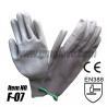 China Gray PU Anti-static Gloves ,Nylon Knit wholesale