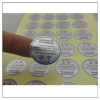 Electronics Product Adhesive Matt Silver PET Label Sticker With Glossy Film Lamination