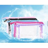 China Sewing Clear Promotional PVC Bags , Colorful PVC Makeup Bag For Cosmetics wholesale