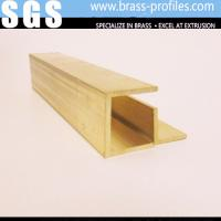 China Special Shaped Copper Alloy Extrusion Brass Door Window Frame Profiles on sale