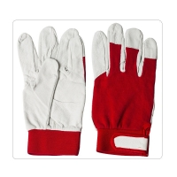 China White Piggy Mechanics Industrial Leather Work Gloves on sale