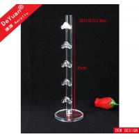 China High Glossy Acrylic Display Stands , Transparent Glass Display Stand on sale