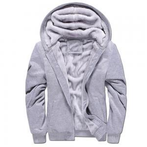 China European design cheap casual zipper trendy men thick fleece winter hoodies for men on sale