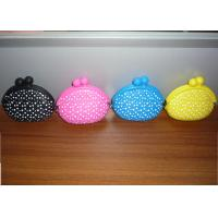 China Rohs/ mixed silicone polka dots cheap coin purses wholesale for girls 95*92*45mm wholesale