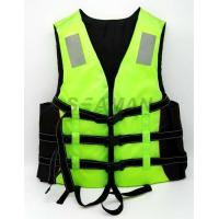 Adult Green Water Sports Life Jacket PFD Inherent Buoyancy Boat Lifevest