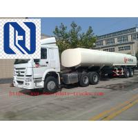 China Carbon Steel 20m3 Concentrated Sulfuric Acid Tank Trailer / Hydrochloric Acid Tank Trucks wholesale