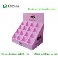 Shop retail table top cosmetic cardboard counter display customized stand