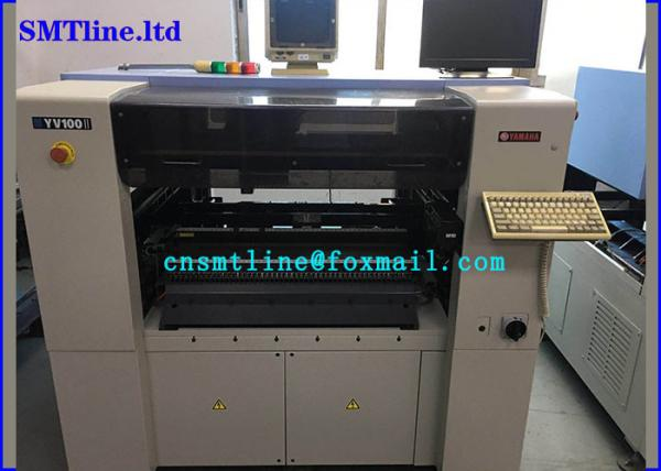 Quality 1.2m Pcb Led Smt Machine , Yamaha YV100II Pick And Place Machine With Manu Tray Feeder for sale