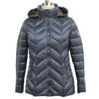 China Winter Warm Womens Puffer Coat With Hood , Casual Style Slim Down Jacket on sale