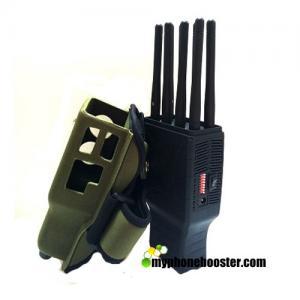 China 5.5W 2G+3G+4G+WIFI+GPS Pocket Cell Phone Blocker Jammer With Nylon Case Jamming Radius up to 20m Wholesale wholesale