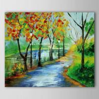 China Bright Landscape Abstract Modern Art Oil Painting For Neo - Classic Style Spaces wholesale