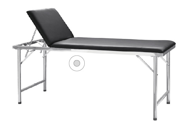 Quality Black Mattress Medical Examination Couch , Hospital Examination Bed Head Adjustable Hospital Patient Table for sale