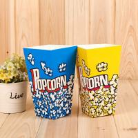 China Custom Printed Disposable Popcorn Containers Food Grade Soy Ink Color Printing wholesale