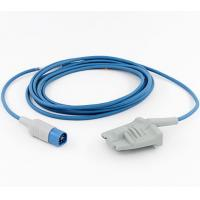 China HP/Philips D-8Pin Spo2 Sensor Adult Soft Rubber Probe 3Mtr Blue Wire wholesale