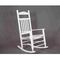 China White Rocking Chair Wooden Outdoor Furniture Hollow Design For Relaxing wholesale