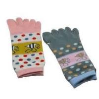 China Funky Resists bacteria Flat Embroidery five toe sock, japanese split toe socks wholesale