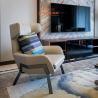 China Metal Frame Armrest Modern Microfiber Leather Sofa For Hotel Living Room wholesale