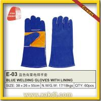 China Industrial Cow Split Leather Safety Gloves LB-1352 on sale