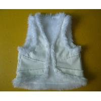 China Suede And Fur Joint Winter Vest Jackets , Warm Womens Sleeveless Vest Jacket on sale