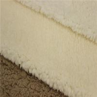 China New fashion Weft Knitted Cotton 100% Polyester Sherpa Fleece Fabric Made In China on sale