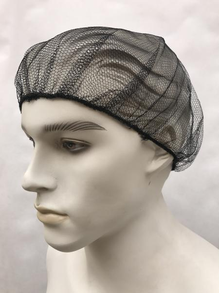 Quality Black Disposable Bouffant Caps , Disposable Hair Net Caps Mob Elastic Free Size for sale