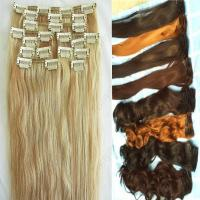 China 100% remy hair clip in hair extensions for african american on sale