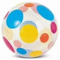 China Beach Ball, Available in Green, Red and Yellow, Made of PVC, TPU, PE and PP wholesale