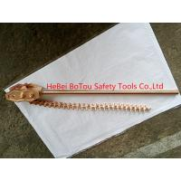 China Non-Sparking Safety Hand Tools Chain Pipe Wrench By Copper Beryllium Dia 8x36 on sale