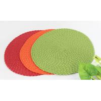 China Woven round dining placemat , dining table mat wholesale