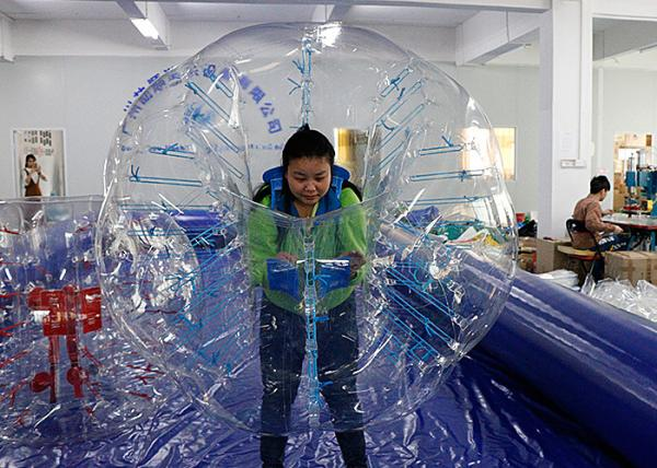 Quality Giant Human Football / Soccer Inflatable Bubble Ball TPU / PVC Material for sale
