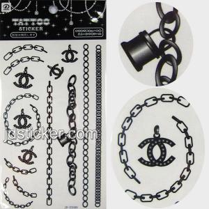 China Black and white water transfer tattoo sticker wholesale