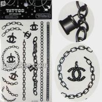 Buy cheap Black and white water transfer tattoo sticker from wholesalers