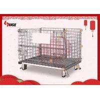 China Hot Dip Galvanized Steel Wire  Storage Containers Half Drop Gate on sale