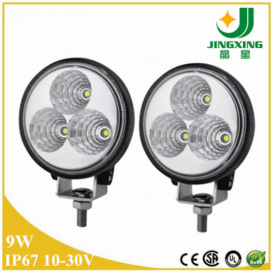 Quality Diecast Aluminum Housing Auto Parts 6000K 3 Inch 9w led work lamp for sale