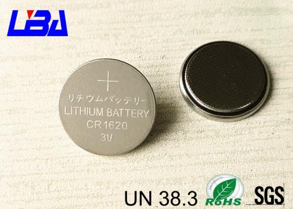 Quality Batteries 75mAh léger 47kΩ de bouton de lithium de la capacité élevée CR1620 for sale